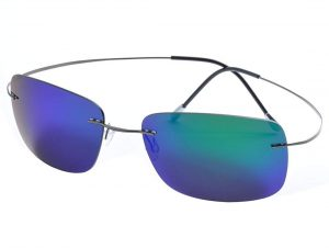 De Ding Rimless Titanium Polarized Sunglasses